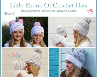 Crochet patterns hat patterns blanket by kerryjaynedesigns on etsy crochet hat pattern ebook comes with so many sizes from newborn adult step by step photo tutorials baby toddler child teen adult fandeluxe Gallery