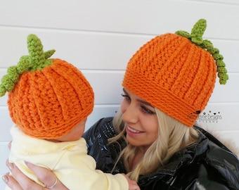 Crochet Pumpkin Hat Etsy
