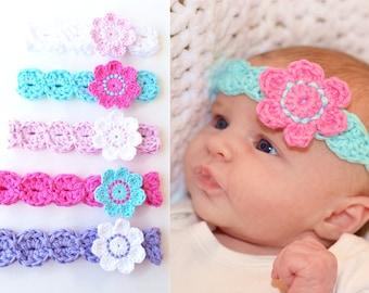 HEADBAND CROCHET PATTERN By KerryJayneDesigns Baby Headband  d206945f57f