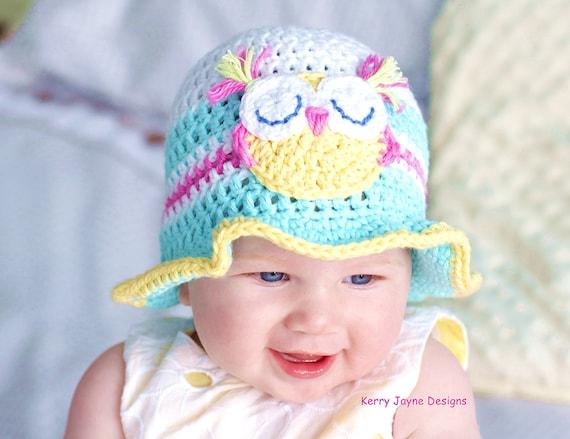 CROCHET HAT PATTERN Fun in the sun Baby hat pattern Baby  eacf13e9f71