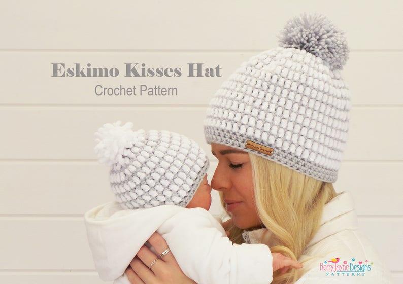 6cd747da828 CROCHET HAT PATTERN Eskimo Kisses Best Seller Luxury hat