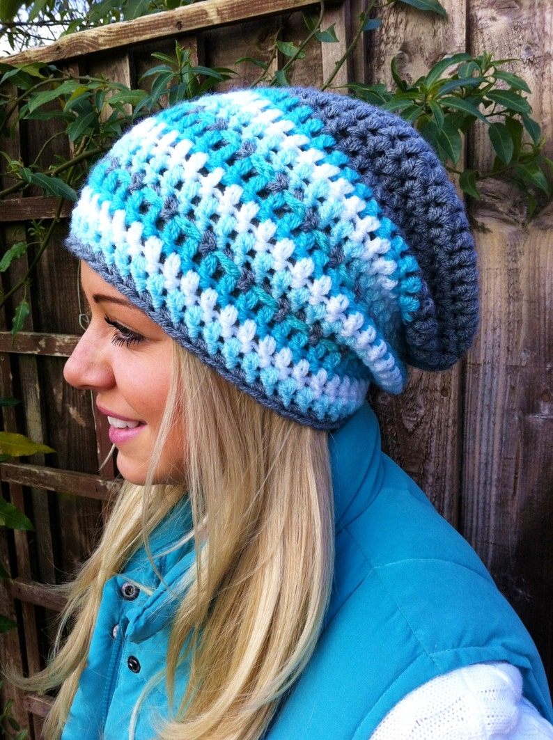 CROCHET HAT PATTERN By Kerry Jayne slouchy hat pattern womens  613106511ddc