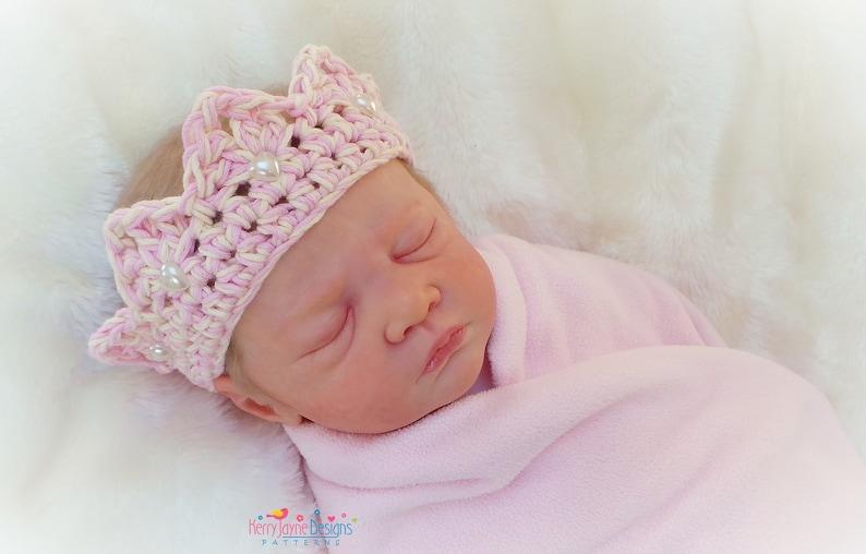 619ba8ba145 CROCHET CROWN PATTERN Princess Charlotte Crown Baby