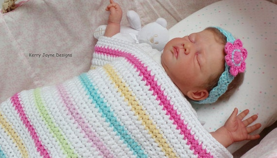 Beginners Baby Blanket Pattern Easy Crochet Blanket Pattern Etsy