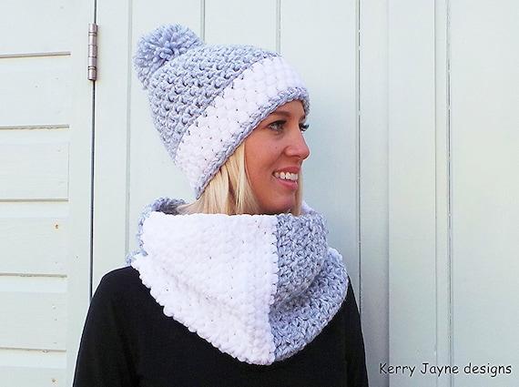 WOMENS CROCHET HAT pattern Crochet Cowl pattern Winter hat  02d89dbbdea9