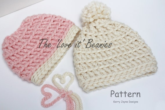 CROCHET HAT PATTERN Twin Pack For the  Love it  Hat  1bca898587c9