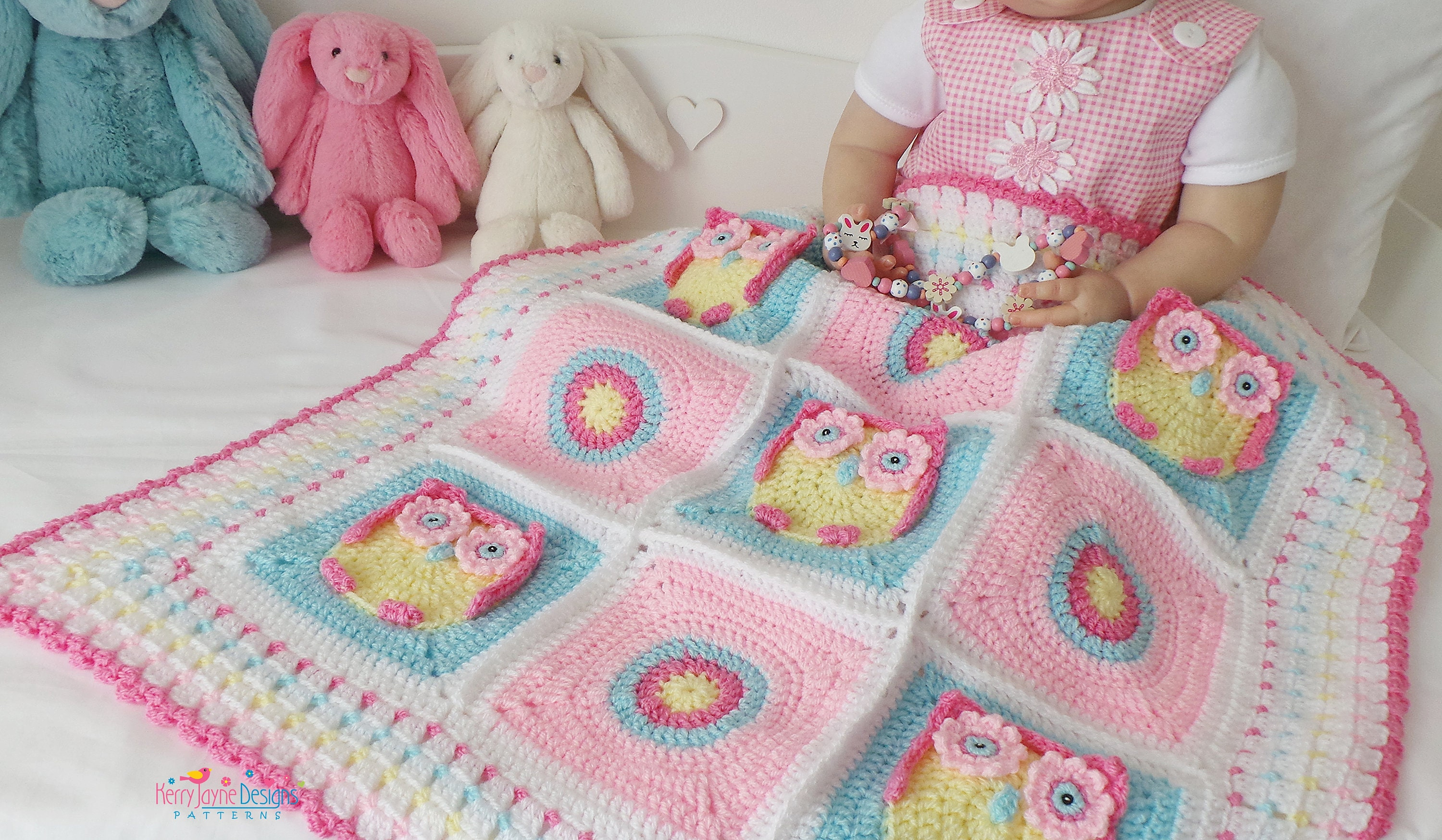 CROCHET PATTERN - Kerry\'s Owl Blanket - Crochet Owl Blanket Pattern ...
