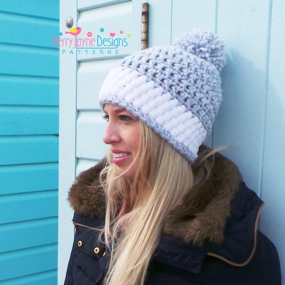 Womens Crochet Hat Pattern Crochet Hat Pattern Winter Hat Etsy