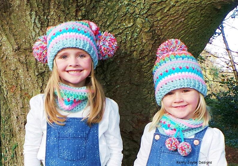 d9fe74b61fe CROCHET HAT PATTERN Set Inca hat and neck warmer crochet