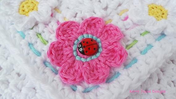 Baby Crochet Blanket Pattern Little Ladybug Blanket Crochet Etsy