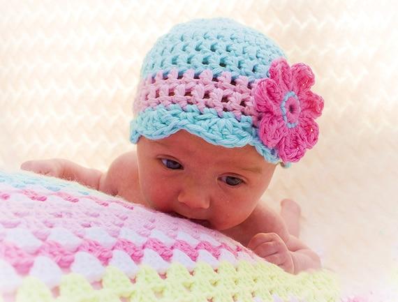 Crochet Baby Hat Pattern Oh So Pretty Crochet Hat Pattern