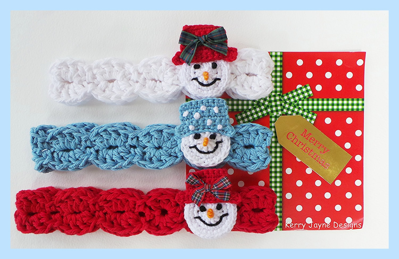 CROCHET HEADBAND PATTERN Snowman headband pattern Christmas
