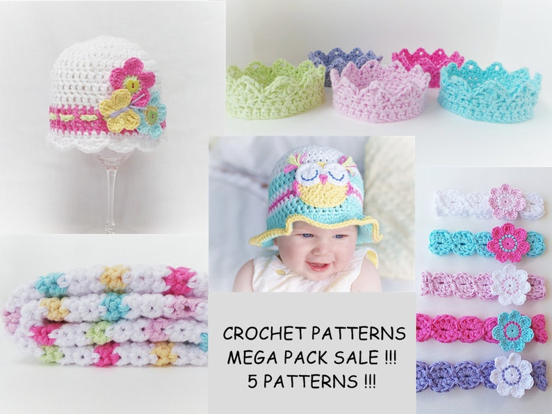 09488e67f54 CROCHET PATTERN Mega Pack Baby Crochet Pattern Owl hat