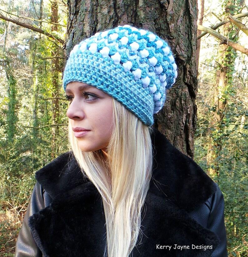 b28131fdd72 SKY FALL CROCHET Hat Pattern Slouch hat pattern Womens hat