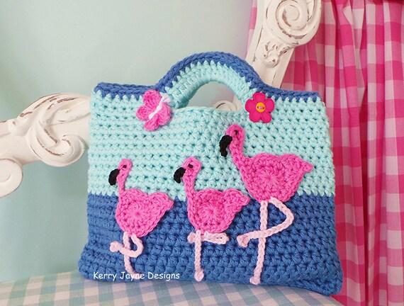 Flamingo Crochet Bag Pattern Fun Crochet Bag Pattern Unique Etsy