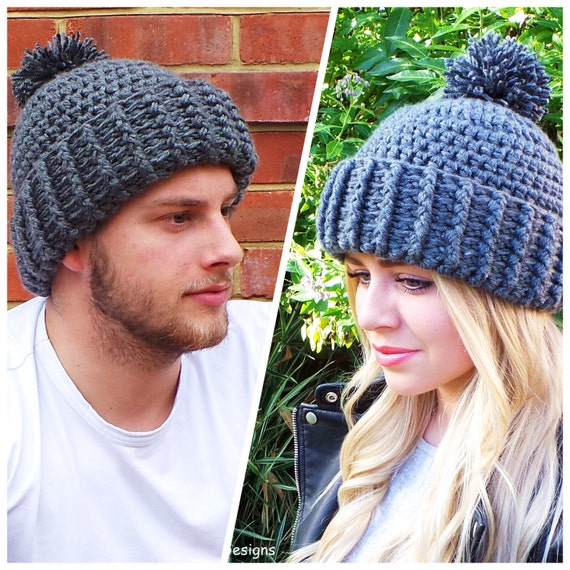 406658f7768 Hard Rock crochet Hat pattern Unisex Crochet Hat Pattern Mens
