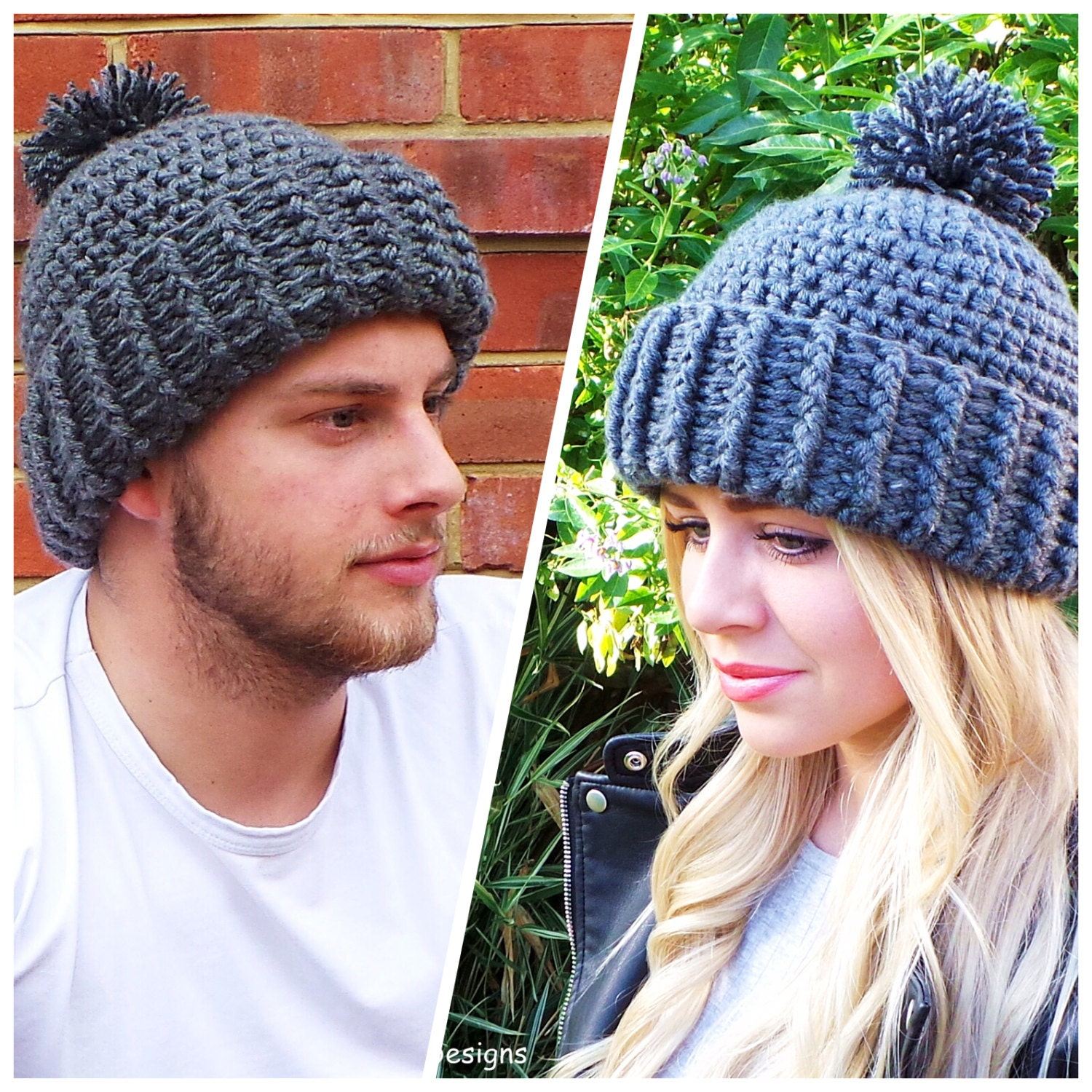 Hard Rock Crochet Hat Pattern Unisex Crochet Hat Pattern Mens Etsy