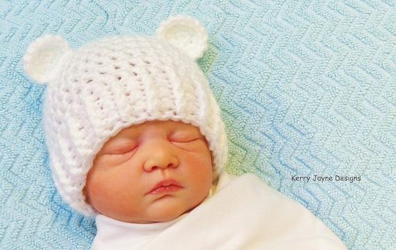 dc4ee3bf772 ADORABLE BEAR EARS Crochet Hat Pattern Crochet Bear Ears Hat