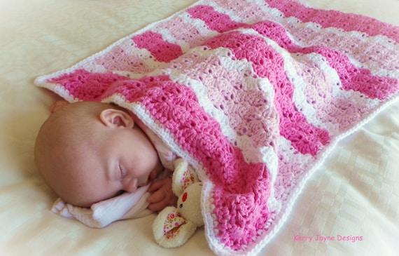 Shell Stitch Blanket Crochet Pattern By Kerryjaynedesigns Etsy