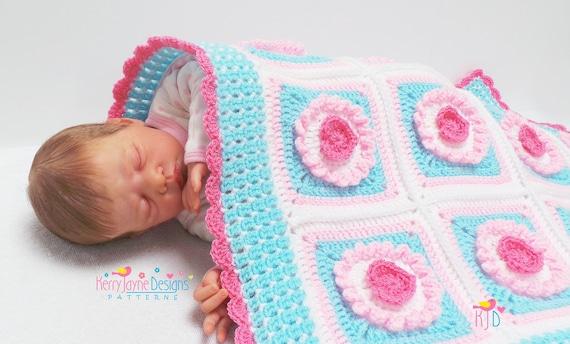 Crochet Pattern Cupcake Heart Blanket Pattern Crochet Baby Etsy