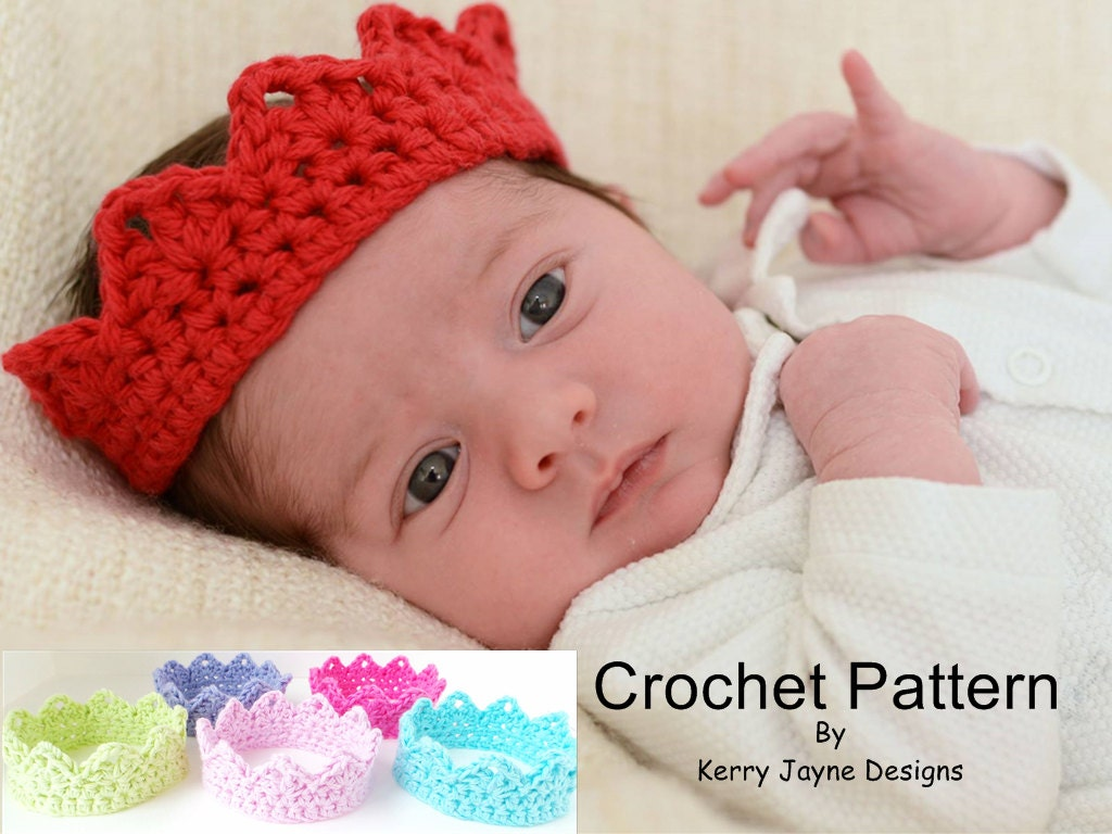 Christmas Crochet Crown Pattern Babies And Adults Newborn Etsy