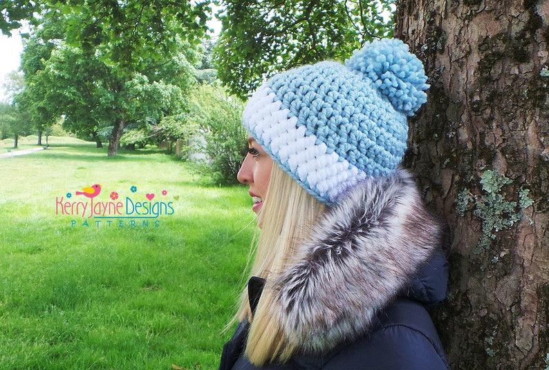 9fb44ffd559 Crochet Hat Pattern NORDIC SPARKLE HAT Sparkly Pom Pom Hat