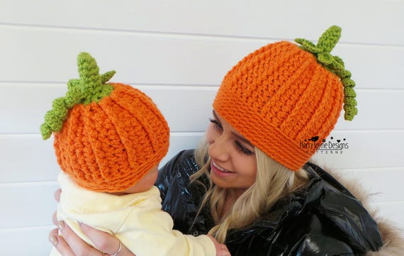 PLAYFUL PUMPKIN hat USA Crochet Pattern Halloween Hat Crochet pattern  Crochet Pumpkin Hat Pattern 6 sizes Baby Toddler Child Teen Women Mens 35f4b19f6c0