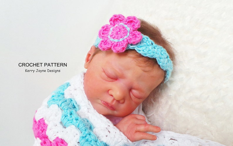 Headband Crochet Pattern By Kerryjaynedesigns Baby Headband Etsy