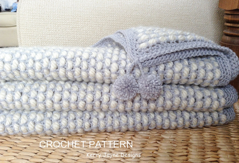 Channel Stitch crochet Blanket pattern NEW STITCH By KJ | Etsy