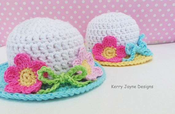 CROCHET HAT PATTERN Summer Garden Hat pattern Baby sun hat  d4c50e1d0c6