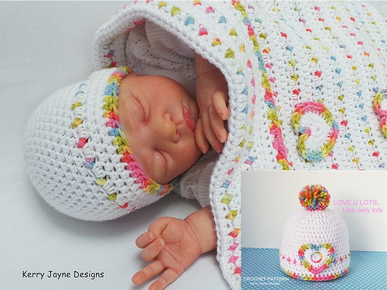 ba2c58ba5ea JELLY TOTS Hat Crochet pattern Crochet Baby Hat Pattern
