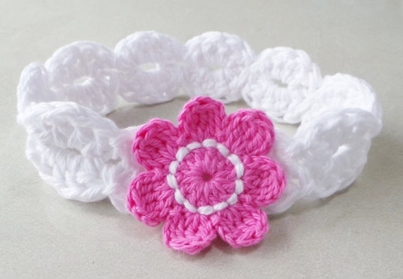 Crochet Headband Pattern Babys Headband Pattern Girls Headband Etsy