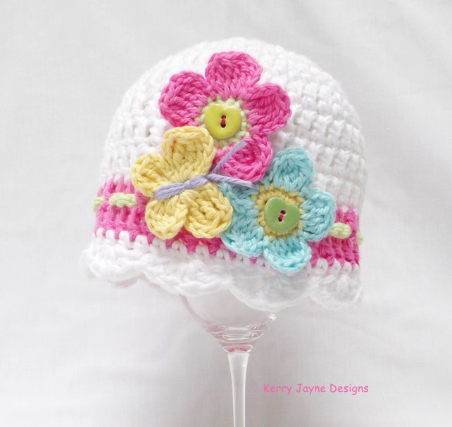 Baby Crochet Hat Pattern Flutter By Baby Hat Butterfly And Etsy