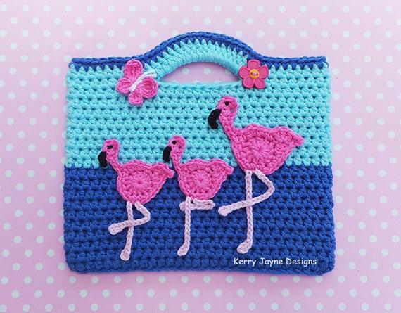 Crochet Bag Pattern Dancing Flamingos By Kerry Jayne Designs Etsy