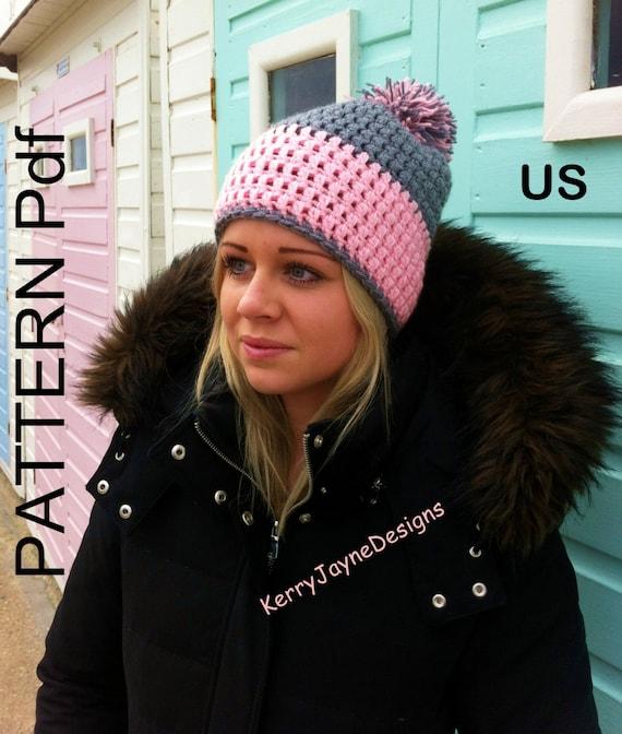 Bobble Hat Pattern By Kerry Jayne Designs Slouchy Hat Etsy