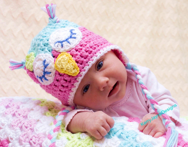 Crochet Owl Hat Pattern By Kerry Jayne Designs Baby Owl Hat Etsy