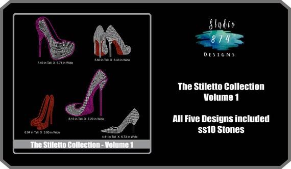 Shoe Bundle Rhinestone Transfer Template Pattern Stencil
