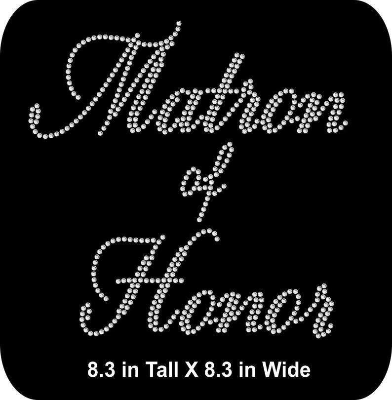 6 TEAM BRIDE LOT OF 8 RHINESTONE IRON ON TRANSFER 1 MAID OF HONOR 1 BRIDE