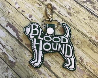 Blood Hound Text Fill Keychain