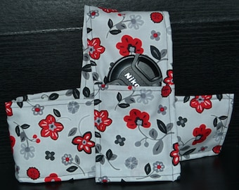 Flowers -Cushioned DSLR Camera Strap Cover