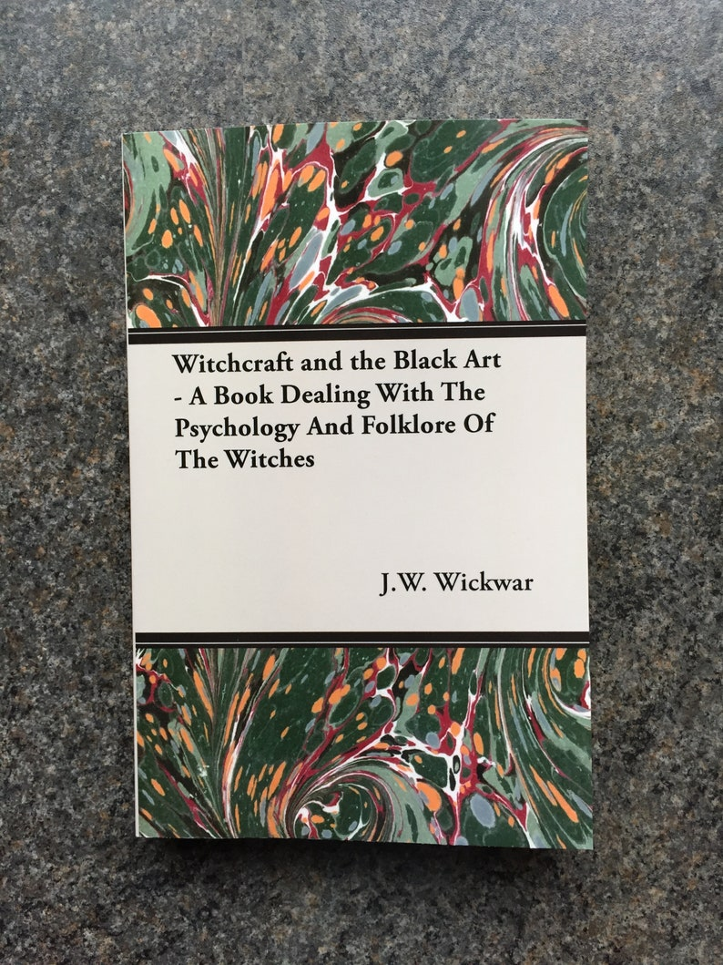 Witchcraft Black Art Folklore Psychology Book 1925 Spells Magic Vampires  Witches