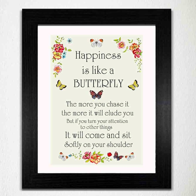 Happiness Print Happy Print Sentimental Print Motivational image 0