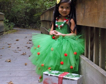 christmas tree o christmas tree tutu dress - Christmas Tree Dress