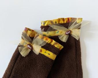 Unique Fingerless Gloves, Clothing Gift Women, Fleece Fingerless Mittens, Secret Santa Gifts for Coworkers, Teacher Appreciation Gift Ideas