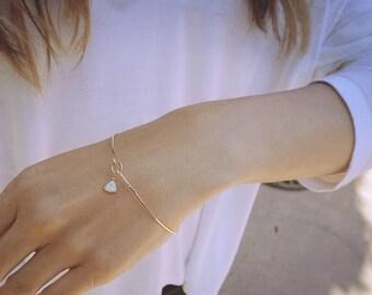 opal dainty bracelet, opal bracelet, gold bangle bracelet, thin gold bracelet, minimalist bracelet