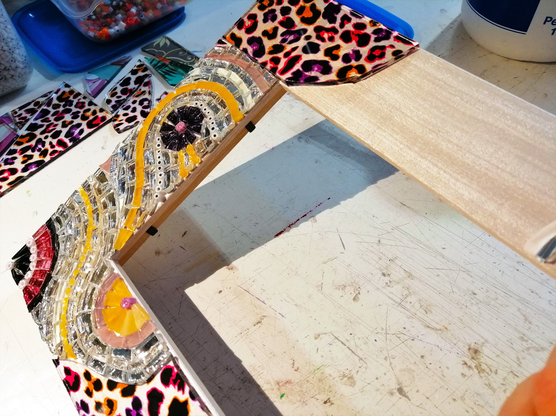 Marco de imagen decorado en mosaico y vidrio personalizado