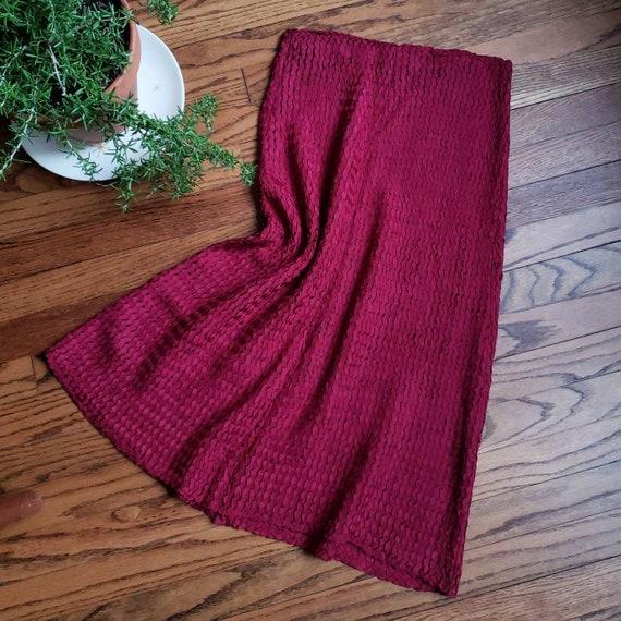 40s garnet crochet ribbon skirt