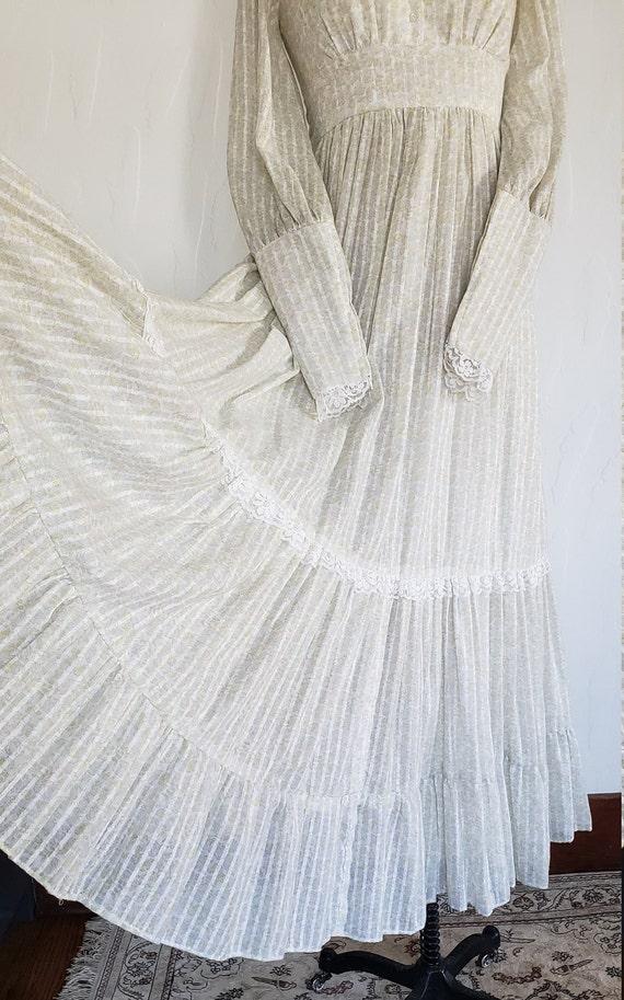 70s Gunne Sax pastel floral prairie dress   M - image 3