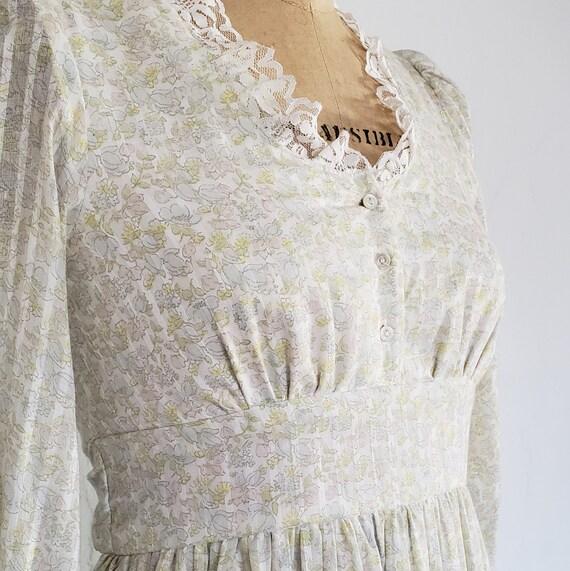 70s Gunne Sax pastel floral prairie dress   M - image 6