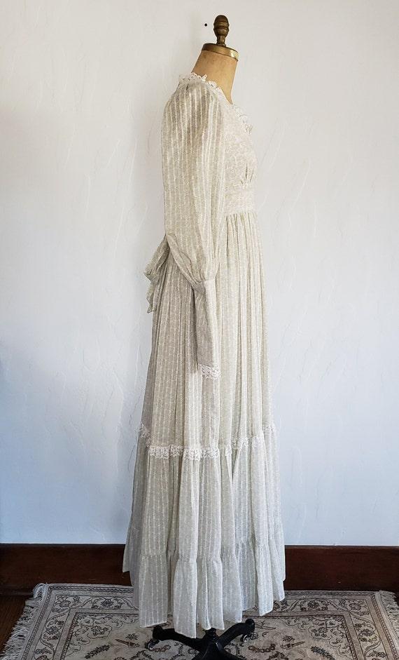 70s Gunne Sax pastel floral prairie dress   M - image 4